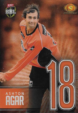 Jersey Numbers Silver, 2017-18 Tap'n'play CA BBL 07 Cricket - 1 to 16 - Pick Your Card