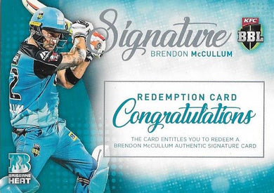 Brendon McCullum, Signature Redemption, 2017-18 Tap'n'play CA BBL 07 Cricket
