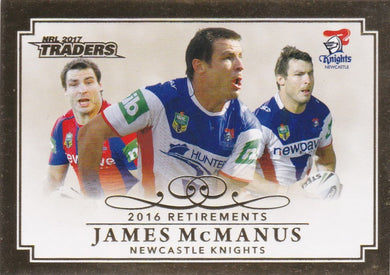 James McManus, Retirements, 2017 ESP Traders NRL