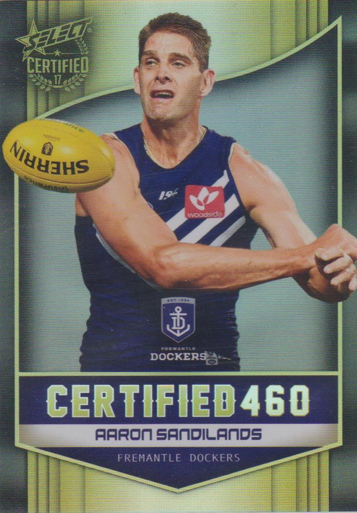 Aaron Sandilands, Certified 460, 2017 Select AFL Certified
