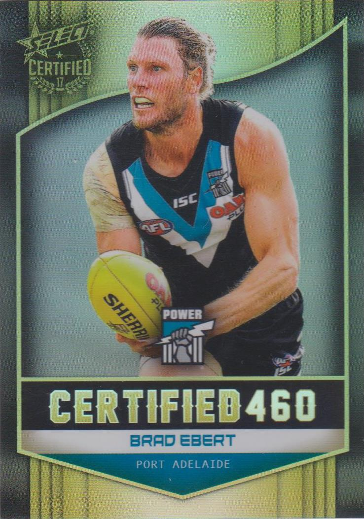 Brad Ebert, Certified 460, 2017 Select AFL Certified