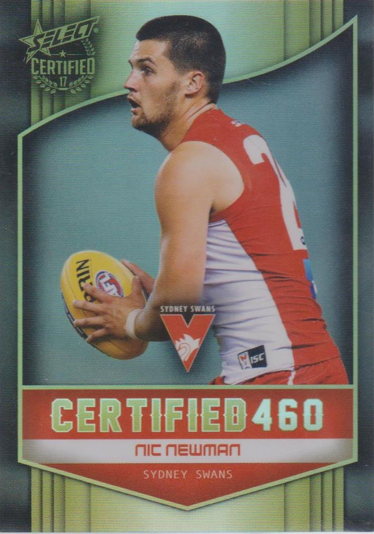 Nic Newman, Certified 460, 2017 Select AFL Certified