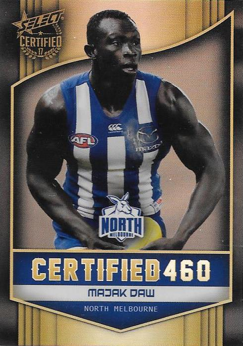 Majak Daw, Certified 460, 2017 Select AFL Certified