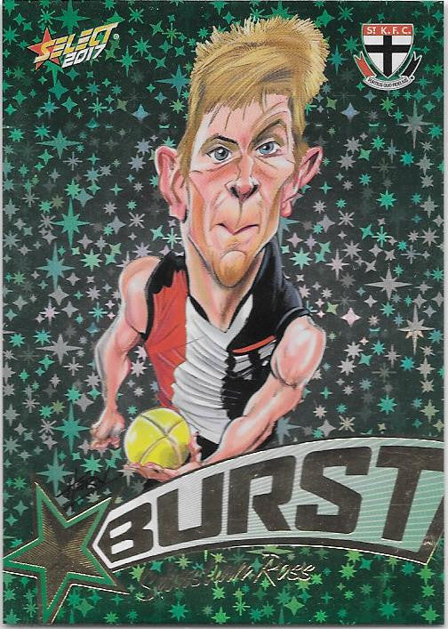 Sebastian Ross, Starburst Caricatures, 2017 Select AFL Stars