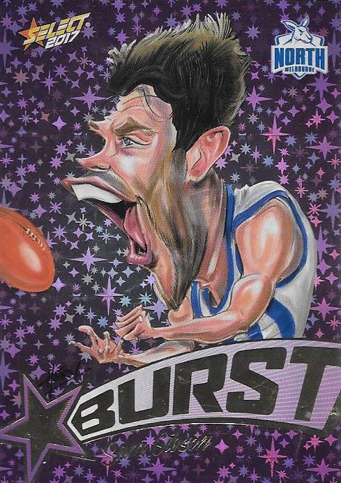 Sam Gibson, Purple Starburst Caricatures, 2017 Select AFL Stars