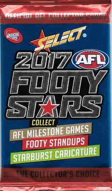 2017 Select AFL Footy Stars Pack