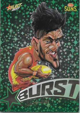 Aaron Hall, Starburst Caricatures, 2017 Select AFL Stars