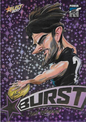 Chad Wingard, Purple Starburst Caricatures, 2017 Select AFL Stars