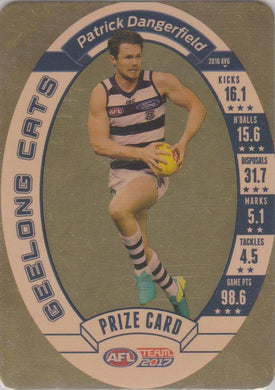 Patrick Dangerfield, Prize Card, 2017 Teamcoach AFL
