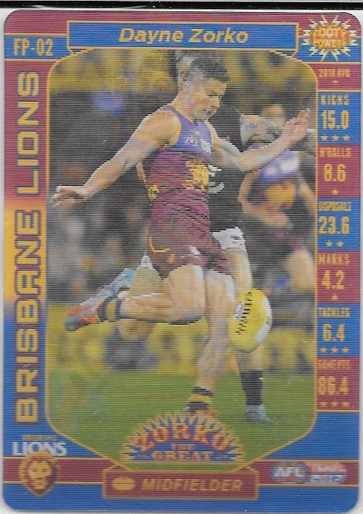 Dayne Zorko, Footy Powers, 2017 Teamcoach AFL