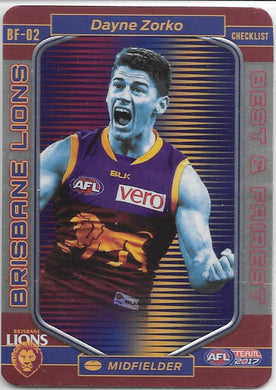 Dayne Zorko, Best and Fairest, 2017 Teamcoach AFL