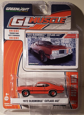 1972 Oldsmobile Cutlass 442, Greenlight GL Muscle, 1:64 Diecast Vehicle