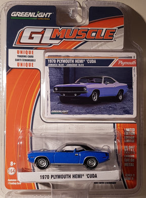 1970 Plymouth Hemi Cuda, Greenlight GL Muscle, 1:64 Diecast Vehicle