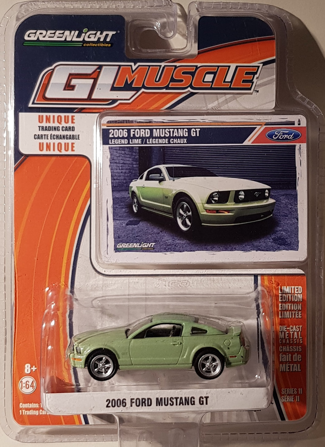 2006 Ford Mustang GT, Greenlight GL Muscle, 1:64 Diecast Vehicle