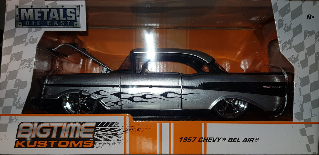 1957 Chevy Bel Air, Big Time Kustoms, 1:24 Diecast Vehicle