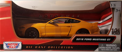 2018 Ford Mustang GT, Motor Max, 1:24 Diecast Vehicle