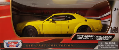 2018 Dodge Challenger SRT Hellcat Widebody, 1:24 Diecast Vehicle
