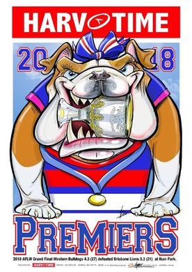 Western Bulldogs 2018 AFLW Premiers, Harv Time Poster