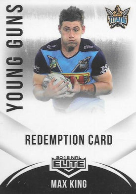 Max King, Young Guns Signature, 2018 TLA esp Elite NRL