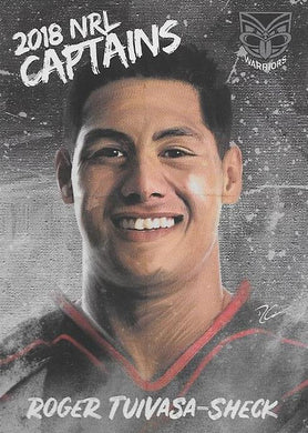 Roger Tuivasa-Sheck, Captains card, 2018 TLA esp Elite NRL