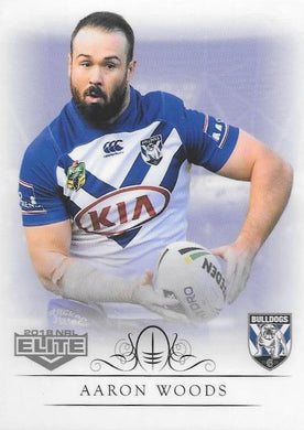 Aaron Woods, Box card, 2018 TLA esp Elite NRL