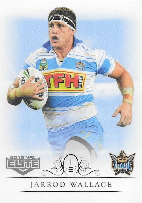Jarrod Wallace, Box card, 2018 TLA esp Elite NRL
