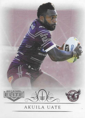 Akuila Uate, Box card, 2018 TLA esp Elite NRL
