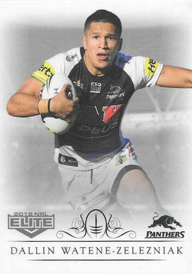 Dallin Watene-Zelezniak, Box card, 2018 TLA esp Elite NRL