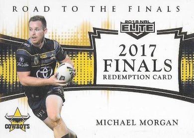 Michael Morgan, Road to Finals Signature Jersey, 2018 TLA esp Elite NRL
