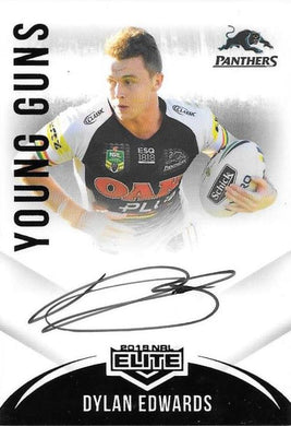 Dylan Edwards, Young Guns Signature, 2018 TLA esp Elite NRL