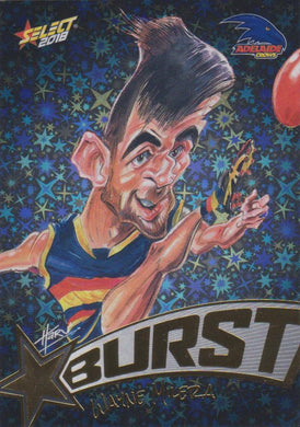 Wayne Milera, Starburst Black Caricatures, 2018 Select AFL Footy Stars