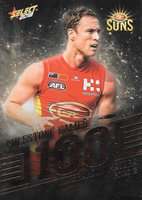 Brandon Matera, 100 Games Milestone, 2018 Select AFL Footy Stars