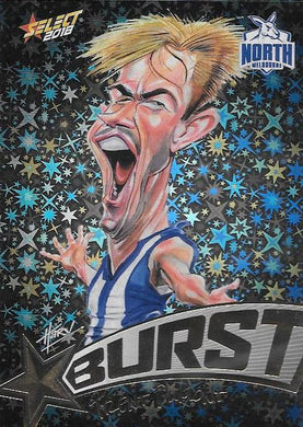 Trent Dumont, Starburst Black Caricatures, 2018 Select AFL Footy Stars