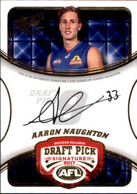 Aaron Naughton, Draft Pick Signatures, 2018 Select AFL Legacy