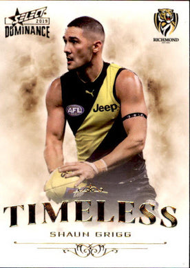 Shaun Grigg, Timeless, 2019 Select AFL Dominance