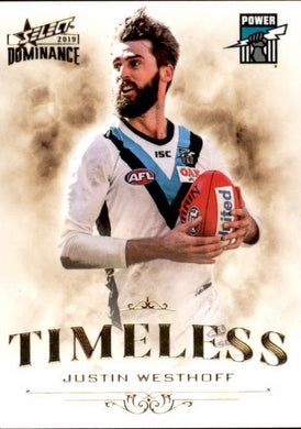 Justin Westhoff, Timeless, 2019 Select AFL Dominance
