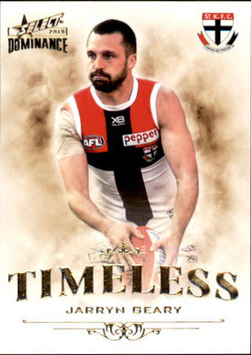 Jarryn Geary, Timeless, 2019 Select AFL Dominance
