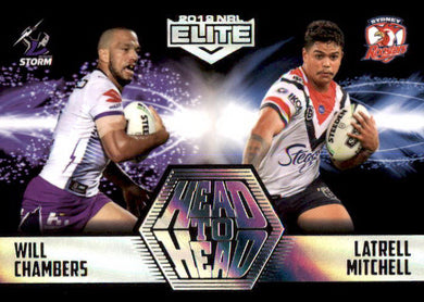 Chambers & Mitchell, Head to Head Case card, 2019 TLA Elite NRL