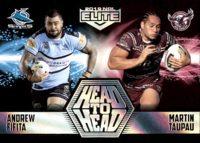 Fifita & Taupau, Head to Head Case card, 2019 TLA Elite NRL
