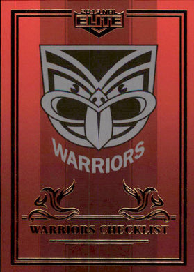 New Zealand Warriors Checklist, Ruby Mojo, 2019 TLA Elite NRL