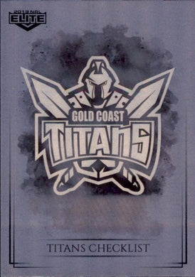 Gold Coast Titans Checklist, Silver Special Parallel, 2019 TLA Elite NRL