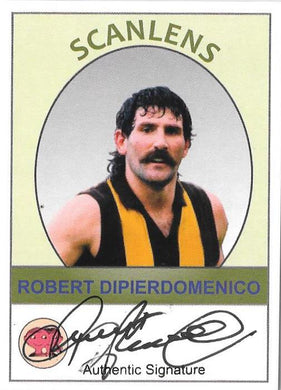 2019 Scanlens VFL, Robert Dipierdomenico Signature and Base Card