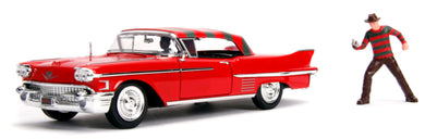 A Nightmare on Elm St - 1958 Cadillac Series 62 1:24 Scale Diecast with Figure Hollywood Ride