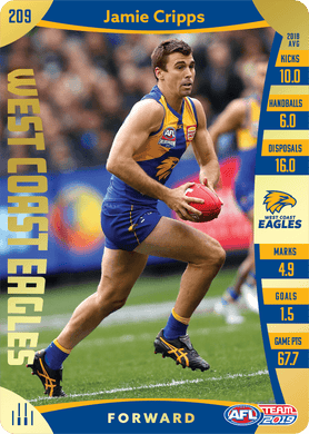 Jamie Cripps, Gold, 2019 Teamcoach AFL