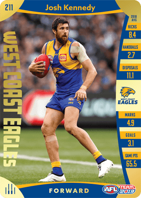 Josh Kennedy, Gold, 2019 Teamcoach AFL