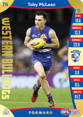 Toby McLean, Gold, 2019 Teamcoach AFL
