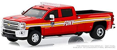 2018 Chevrolet Silverado 3500HD, FDNY, Dually Drivers, 1:64 Diecast Vehicle
