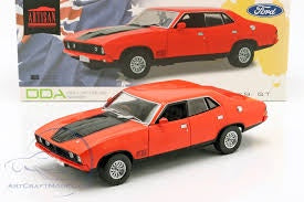1974 Ford Falcon XBGT Red 4 Door Sedan, 1:18 Diecast Vehicle