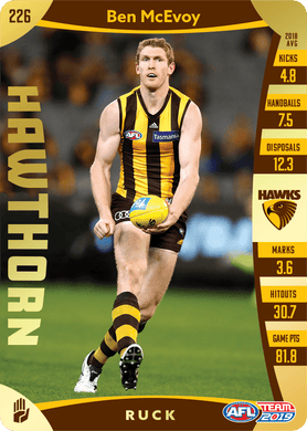 Ben McEvoy, Gold, 2019 Teamcoach AFL