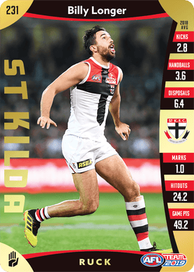 Billy Longer, Gold, 2019 Teamcoach AFL